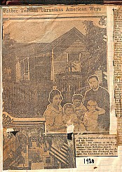 Scrapbook page with clipping of newspaper article about Fr. Joseph Zelechiwsky from the Kansas City Kansan. August 27, 1922. (credit: Ukrainian History and Education Center. Metr. Kuschak Memorial Archives)